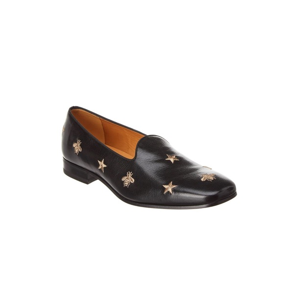 c1aa78a68 Gucci Shoes | Bee Star Embroidered Leather Loafer | Poshmark